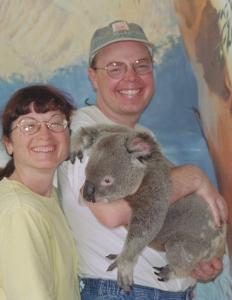Pam & Richard with Koala in Australia