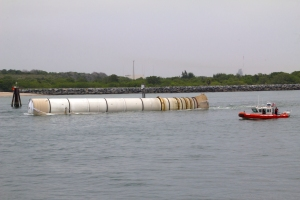 Close-up of Rocket Booster