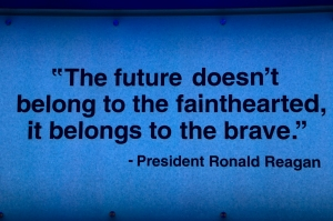 President Ronald Reagen's Quote on Bravery