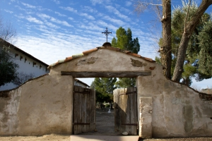 Mission San Miguel Cemetery Entrance