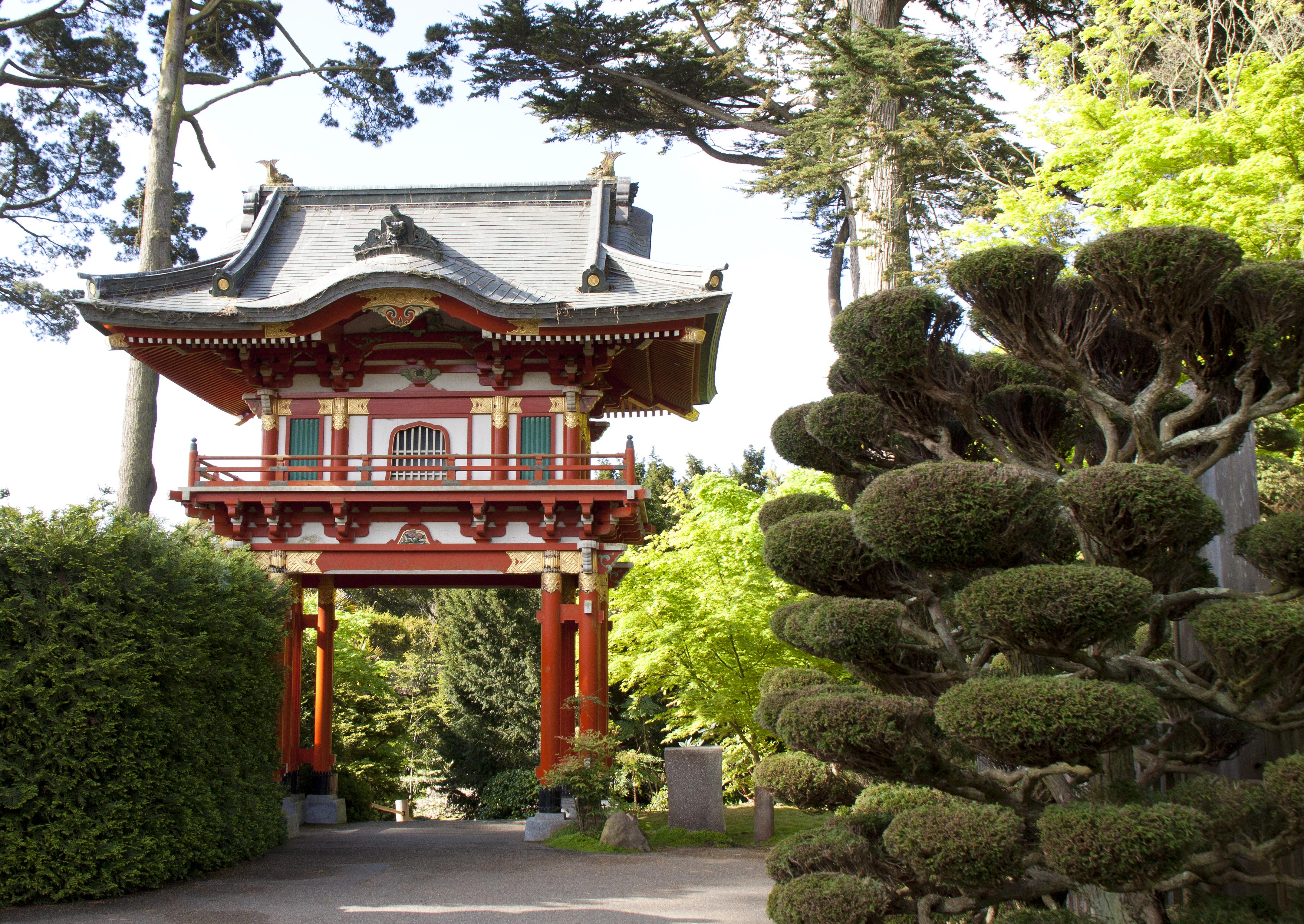 Temple Gate At Japanese Tea Garden Naturetime
