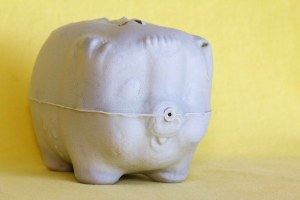 Beachcombing Find: White Piggy Bank from Cuba