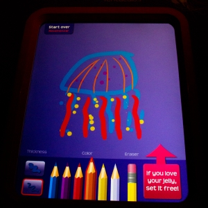 Touchscreen to Draw Jelly