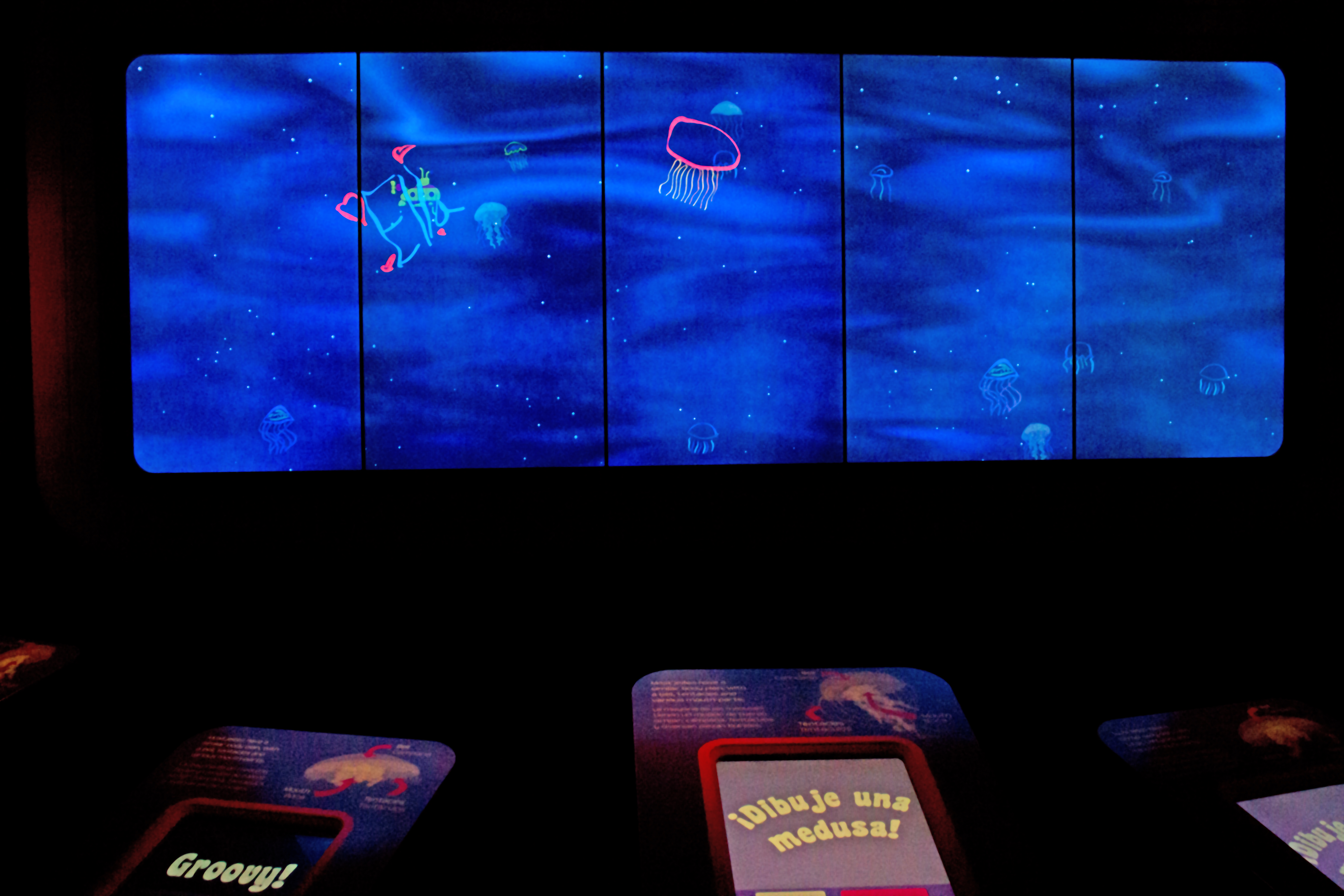 draw your own digital jelly touchscreens and wall size virtual naturetime