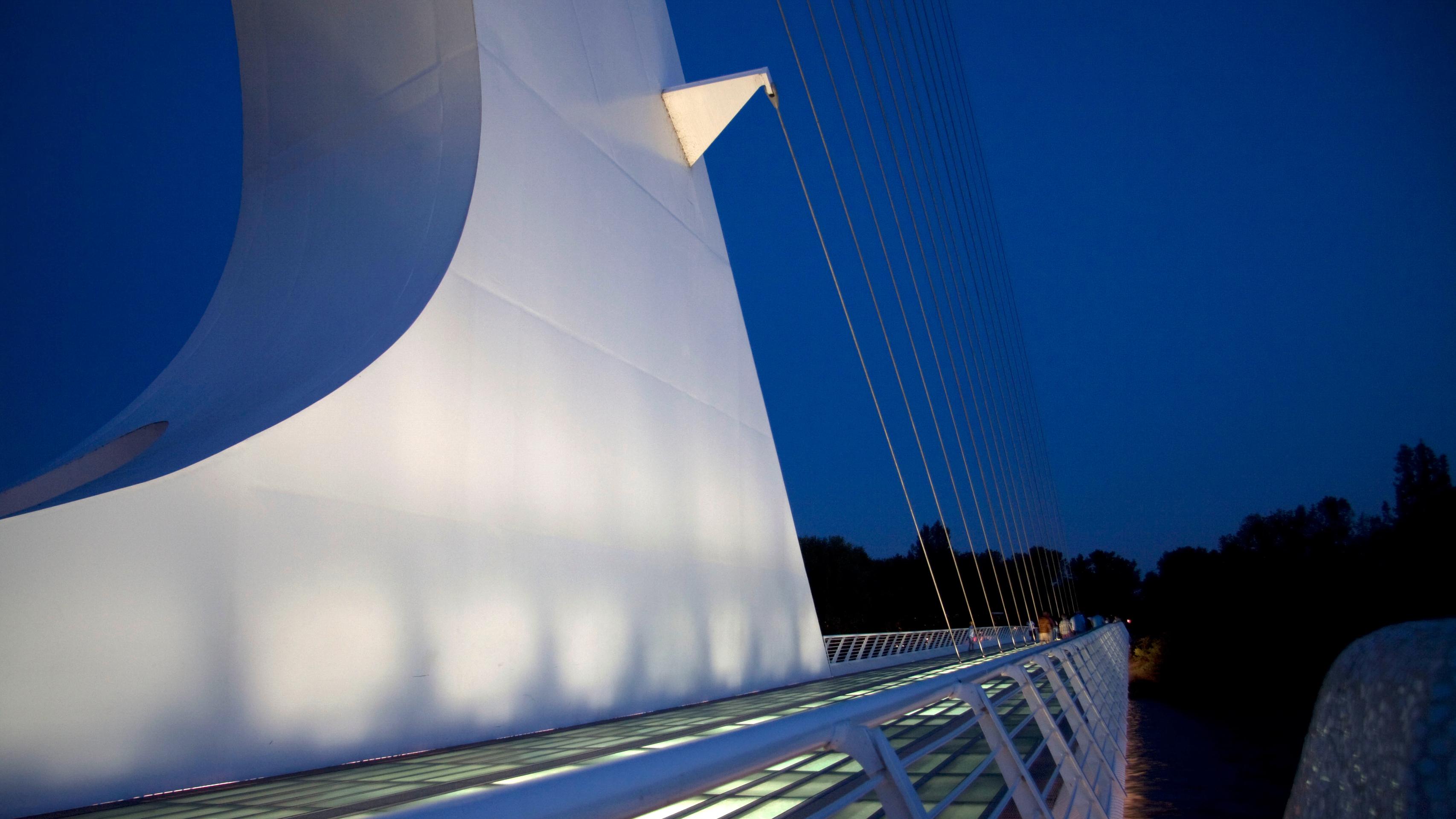 sundial bridge at night naturetime