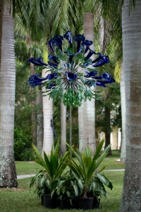 """Blue Calla Flare"" Glass Sculpture"