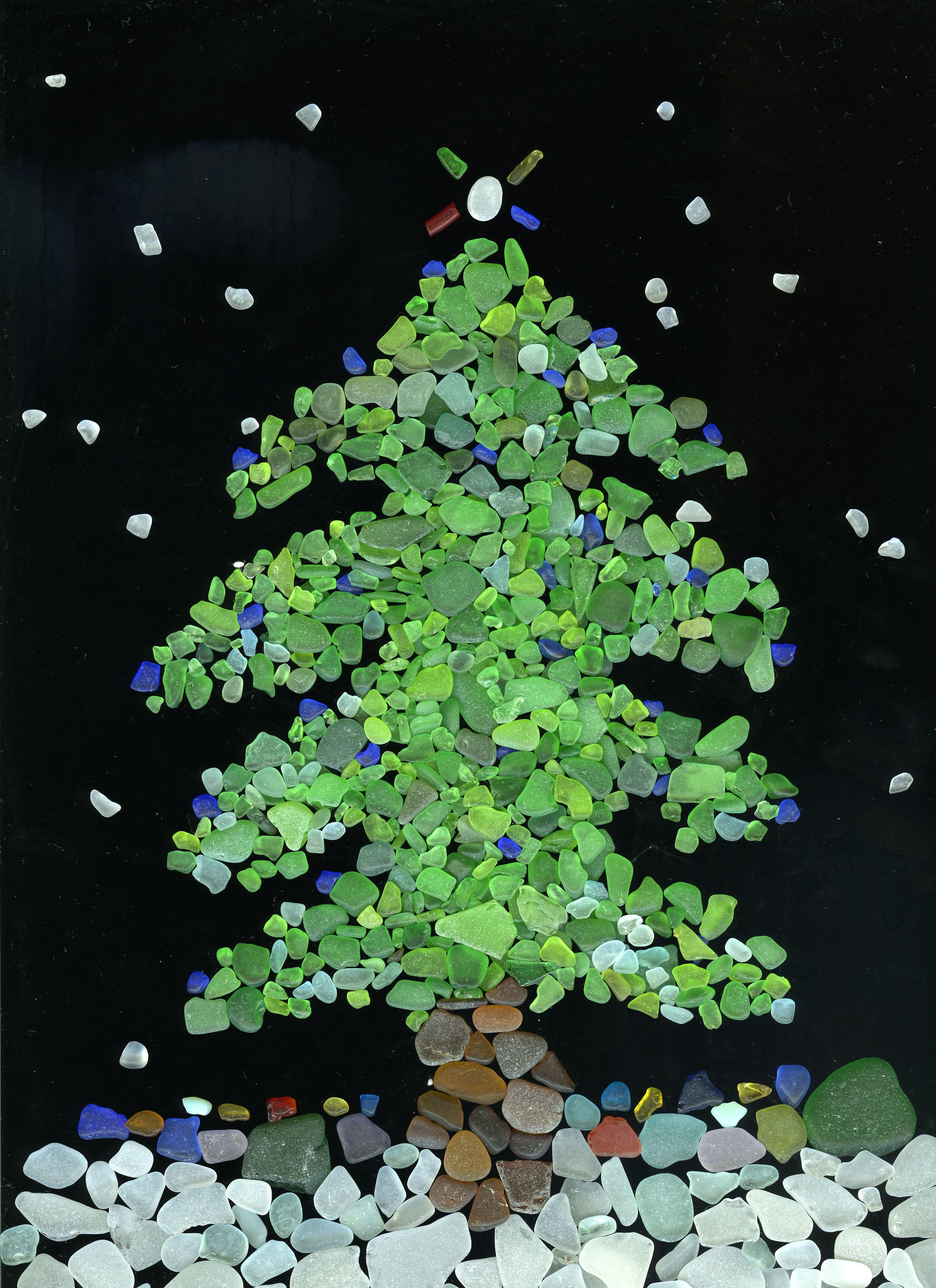 Sea Glass Christmas Cards Naturetime