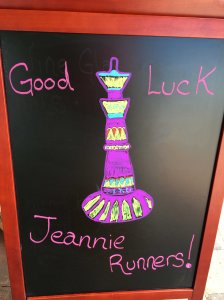 Jeannie Race Sign in Cocoa Beach