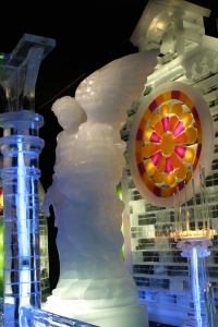 Ice Angel with Stained Glass