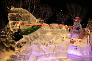 Ice Santa and Sleigh