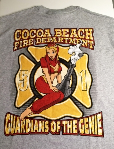 Cocoa Beach Fire Department T-Shirt: Guardians of the Genie