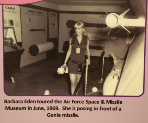 Barbara Eden Touring Air Force Space and Missile Museum in June 1969