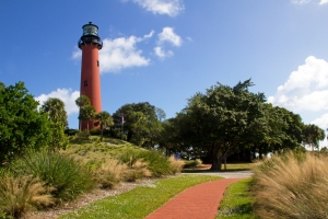 Jupiter Inlet Lighthouse and Brick Path
