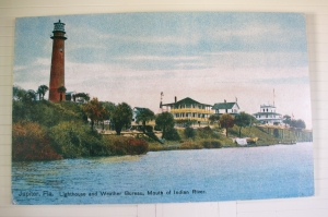 Antique Postcard of Jupiter Inlet Lighthouse