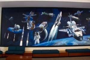 Space Mural in Lobby of Launch Control Center