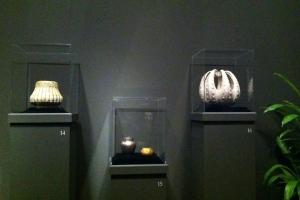 Tiffany Pottery (octopus bowl on right)