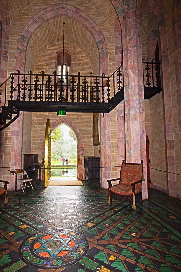 Inside Founder S Room Looking Out Golden Brass Door