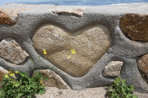 Heart on Rock Wall at Lover's Point