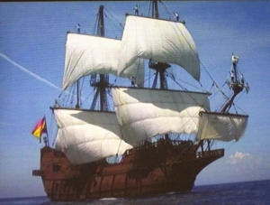 El Galeon Sailing at Sea (from Visitor Movie)