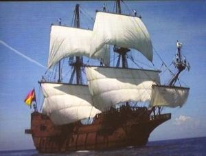 El Galeon Sailing at Sea (from Visitor Movie)