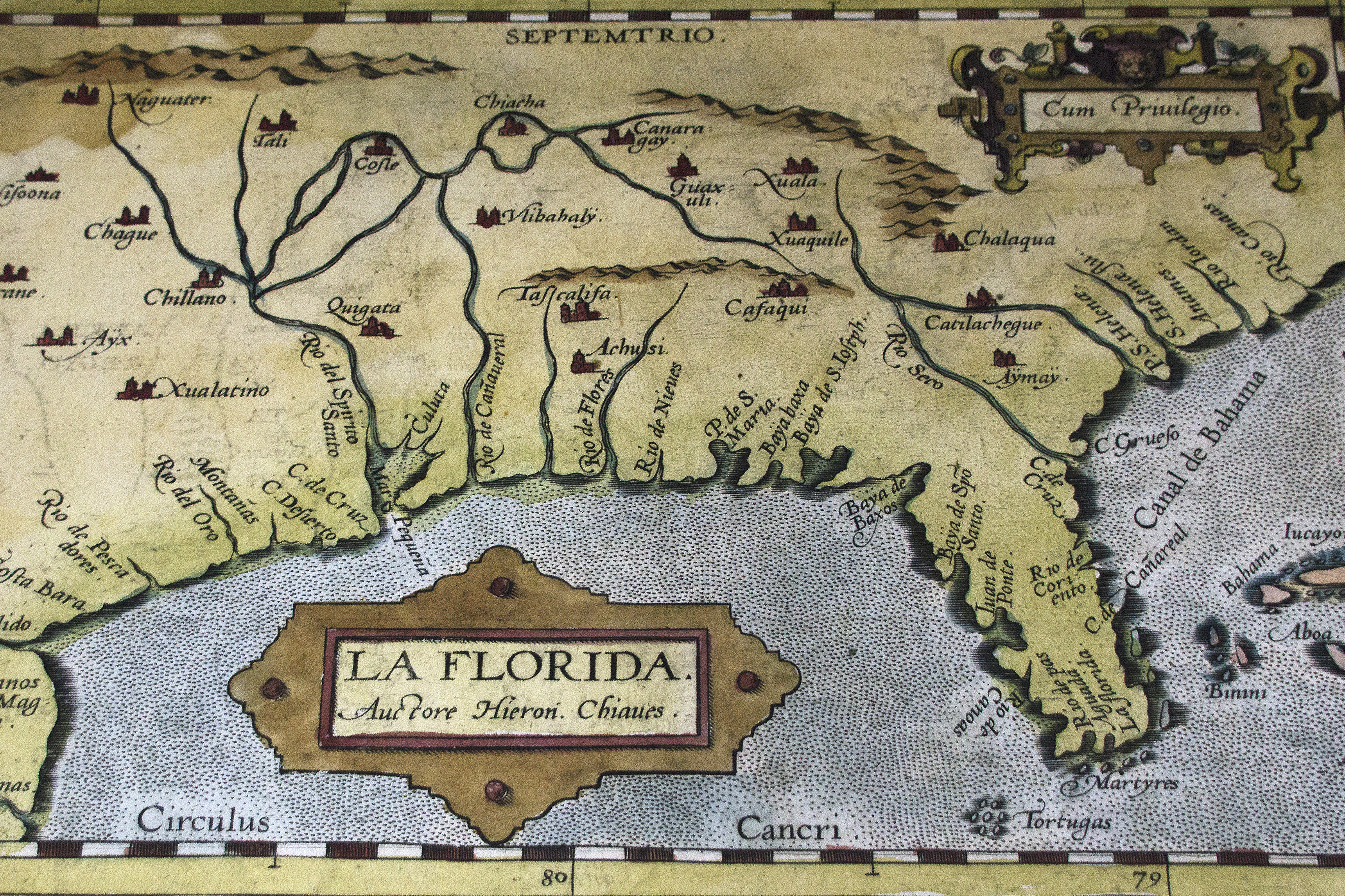 First Official Map Of Florida 1584 Note Cape Canaveral Is Already