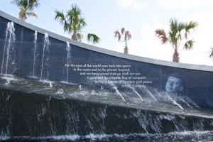 Fountain at Entrance to Kennedy Space Center
