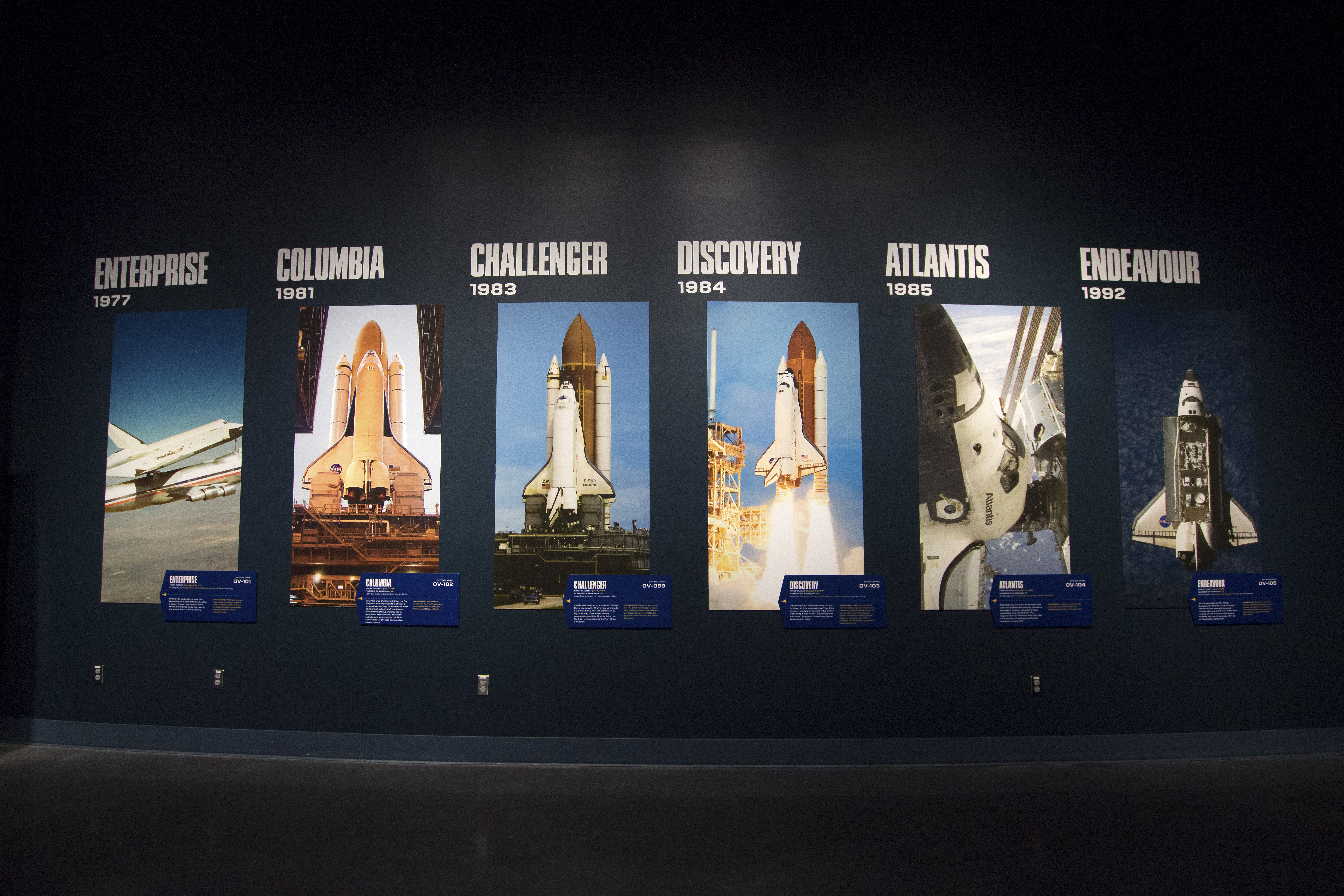 space shuttle atlantis enterprise and discovery exhibits