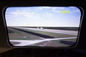 Space Shuttle Landing Simulator:  Touchdown on the Runway