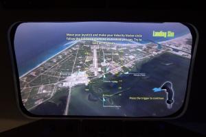 Space Shuttle Landing Simulator:  Lining up the Runway