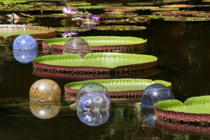 Glass Balls on Pond