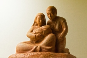 Chumash Family Statue
