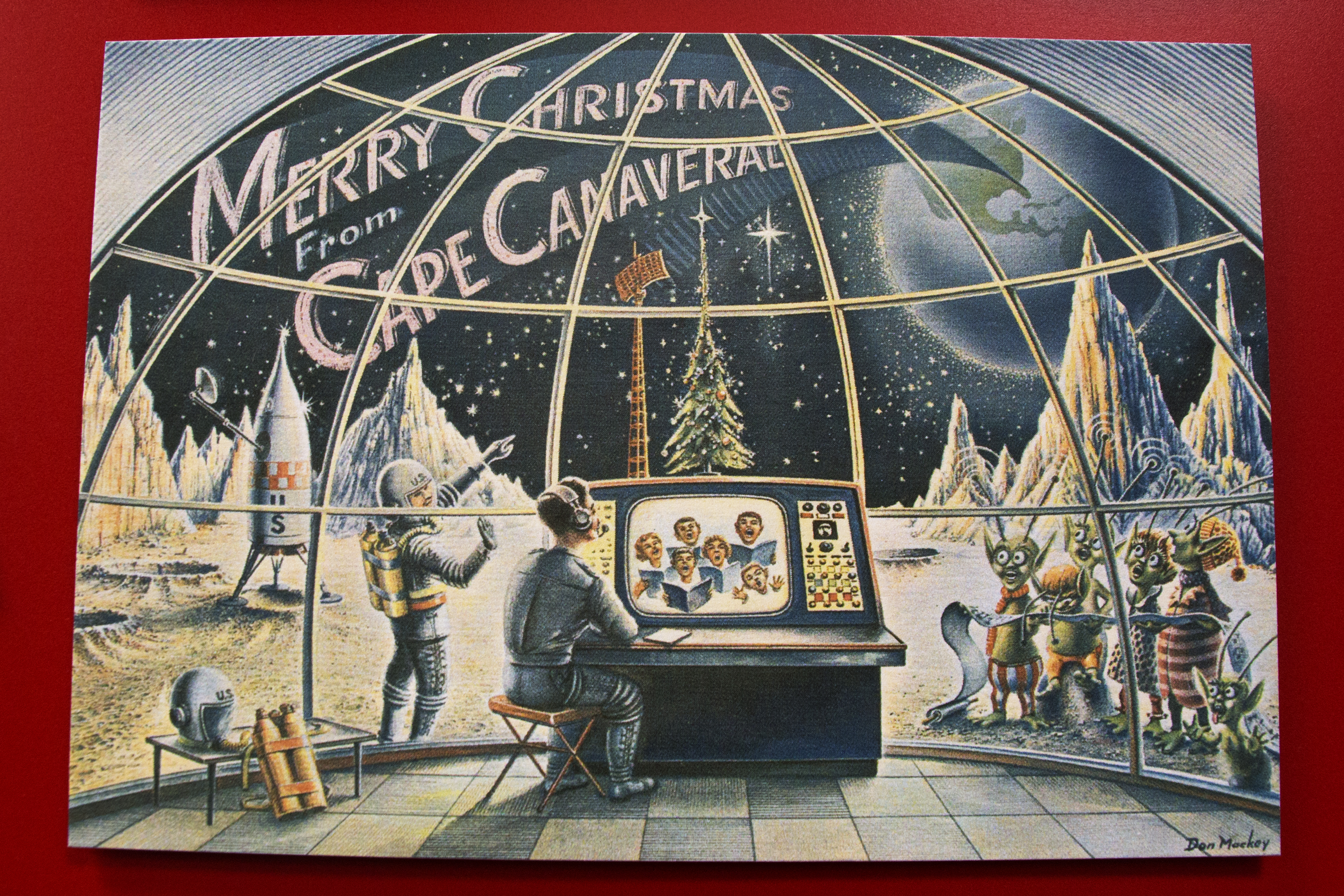 Vintage Space Art Christmas Cards at the Air Force Space and Missile ...