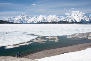 Frozen Jackson Lake