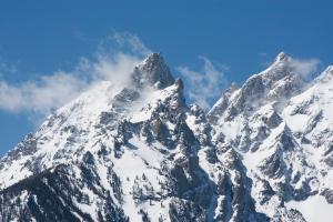 Snowy Teton Peaks