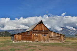 Preserved Thomas A. Moulton Barn on Mormon Row (100th anniversary in July 2013)