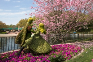 Cinderella and Prince Charming Topiaries