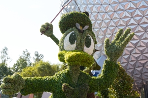 Donald Duck Swatting Bee Topiary