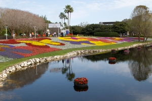 Flower Beds Around Lake