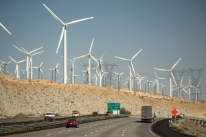 Wind Turbines Along Highway 10