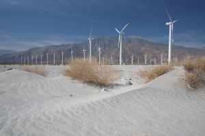 Wind Turbines in Front of Mount San Jacinto
