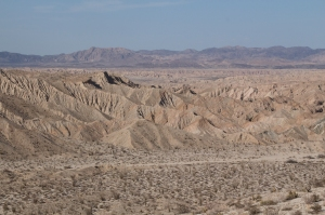 Close-up of Carizzo Badlands and San Jacinto Fault Zone