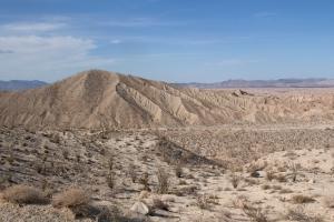 Carizzo Badlands Landscape