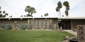 Home Featuring Decorative Concrete Privacy Walls