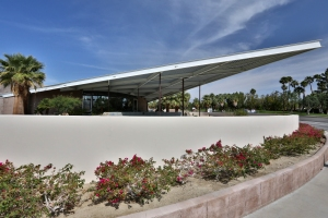 Palm Springs Visitor Center (former Tramway Gas Station) with Distinctive Angular Roof