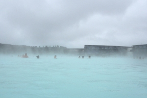 Swimming in the Blue Lagoon's Steamy Water