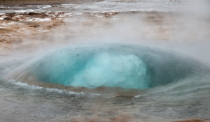 "Strokkur Geyser's Blue Bubble (nicknamed ""The Churn"")"