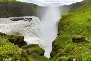 Close-up of Gullfoss Gorge