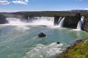 Godafoss (Waterfall of the Gods) in North Iceland