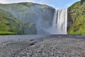 Massive Skogafoss in South Iceland