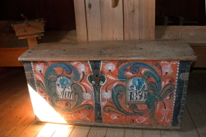 Colorful Painted Chest (inscription says Year 1859)